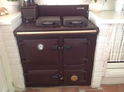 Rayburn solid fuel and wood cooker, boiler & heats water