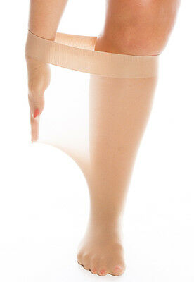 79:Plus Size Knee Highs with an extra wide, deep band - stretch 75cms/29 inches.