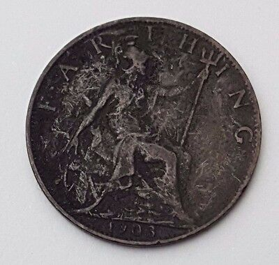 Dated : 1903 - Copper - One Farthing - Coin - King Edward VII - Great Britain