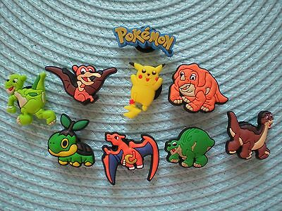 Jibbitz Clog Shoe Charm Button 9 Pokemon Mix Sandals Crocs Bracelet Accessories