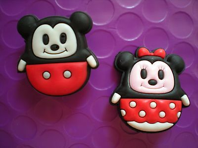 Jibbitz Clog Charm Accesorie  Fits Croc Shoe Clogs W/holes 2 Mickey Minnie Mouse