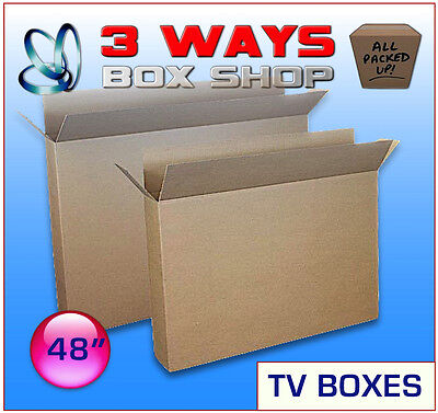 2x 48inch TV Cardboard Removal Boxes - Storage Box