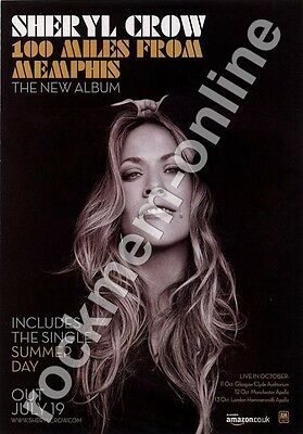Sheryl Crow 100 Miles From Memphis LP Advert
