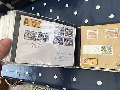 Austria FDC album with approx 100 special letters/ FDC incl olympic & registered