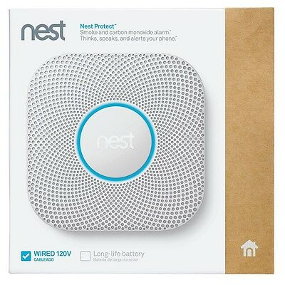 New Nest Protect Smoke Carbon Monoxide Alarm 2nd Generation Wired (S3003LWES)