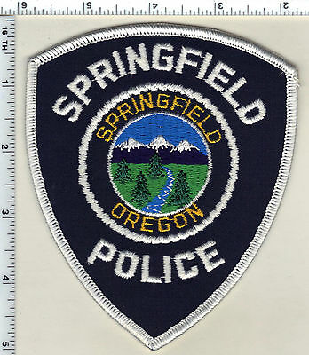 Springfield Police (Oregon) Shoulder Patch - new from 1989
