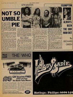 Humble Pie UK Interview + 10cc Hotlegs Lady Sadie ad 71