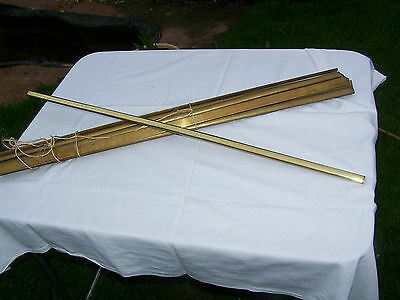 Genuine Vintage Brass Stair Rods Set Of 13   32""