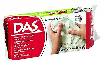 DAS Modelling Clay White Air Dry DIY Crafts Sculpting Play Soft Moulding 500 g