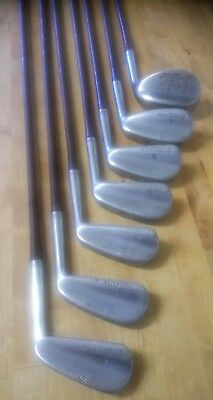 Vintage Pinsplitter set of golf Irons signed name & Woking golf club