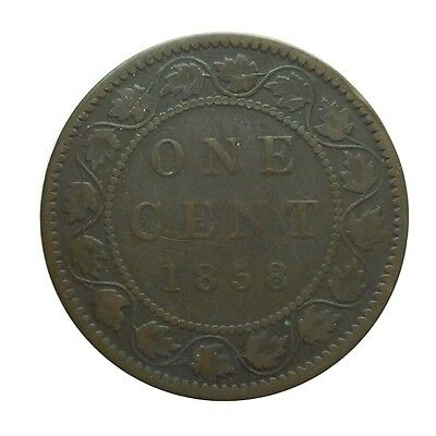 ** Key Date 1858 Canada Large Cent, Great Coin, Very Collectible 1st Year