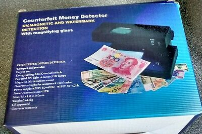 Professional UV Counterfeit Fake Forged Bank Note Money Detector Checker Tester