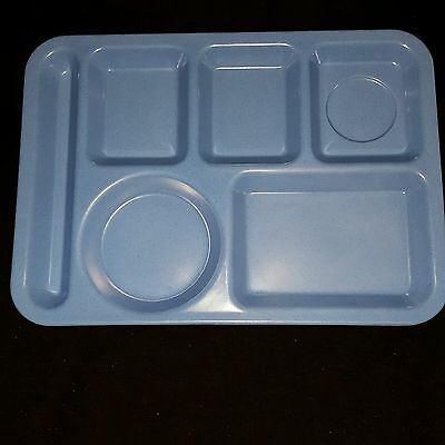 Carlisle Food Tray Blue Six Compartment Buffet Kids Camping Crafts