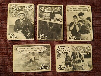 Gilligan's Island Original 1965 Topps cards, lot of 5. VERY RARE!