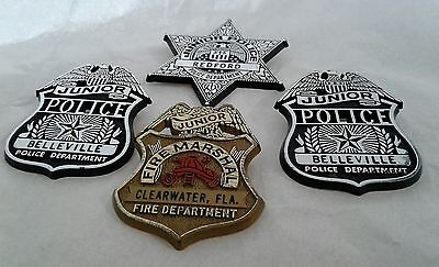 Junior Police Fire Marshal Department Badge Lots