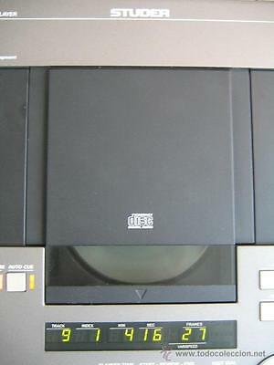 PROFESIONAL CD STUDER A 730 REVOX CDM-3  TDA1541 S2 DOBLE CROWN + Remote