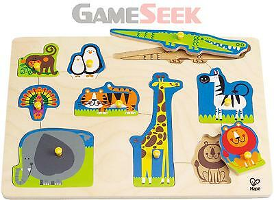Hape Wild Animals Peg Puzzle Brand New Free Delivery