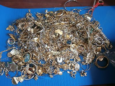 30 Pound Lb Gold Toned Plated Jewelry Mix Scrap Lot For Recovery Craft