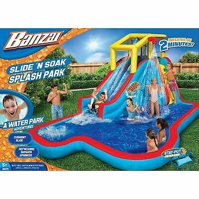 NEXT DAY SHIP Banzai Slide N Soak Splash Park Inflatable Water Slide FACTORY NEW