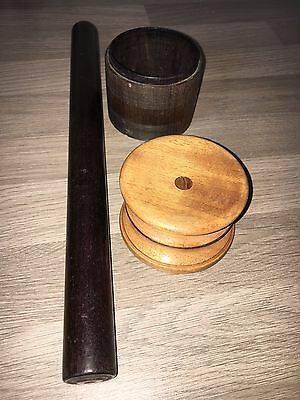 Lot Of 3 Treen Items.