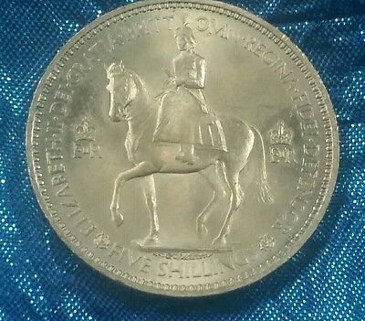 1953 Coronation Crown - Elizabeth Ii - Five Shilling Coin - Cased - Uncirculated