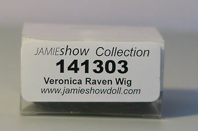 """Jamieshow Veronica Raven Rooted Wig Cap For Jamieshow 16"""" Dolls Only  Nrfb"""