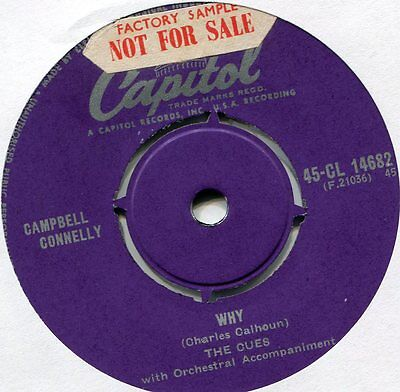 The Cues  Why - Prince or Pauper   on uk Capitol Label