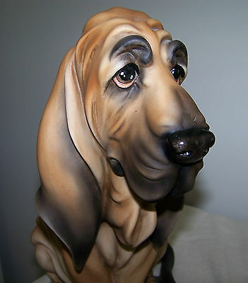 "ARMANI BLOOD HOUND Large 12 1/2"" high PORCELAIN ADORABLE"