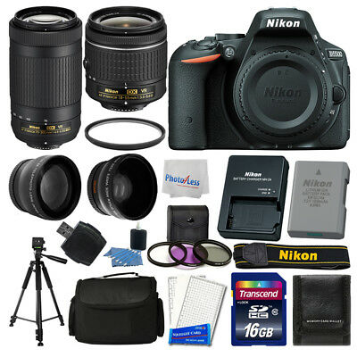 Nikon D5500 Digital SLR Camera + 16GB Top Value Bundle + 18-55mm VR + 70-300mm