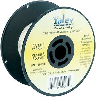 Candle Wicking Spool 100yd Small Bleached 052124100470