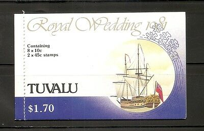 Tuvalu . 1981 Royal Wedding .Complete Booklet. MNH
