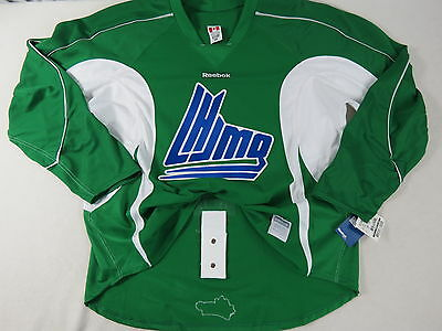 New Green Reebok Team Issued QMJHL Pro Stock Hockey Player Practice Jersey 56