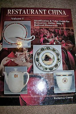 """Identification an Price Guide on""""Restaurant China""""Volume 1 by Barbara J. Conroy"""