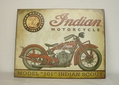 "Indian Motorcycle ""Scout"" Metal Sign (2869904) NEW"