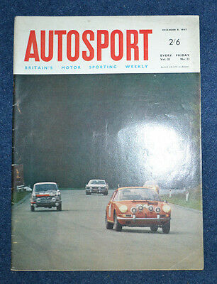 Autosport 8th December 1967 Rhodesian GP, Bristol 410 test, Brabham