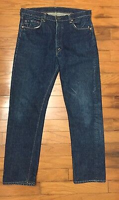 Vtg Rare Levis BIg E Single Stitch 505 Jeans Usa Zipper 40x30