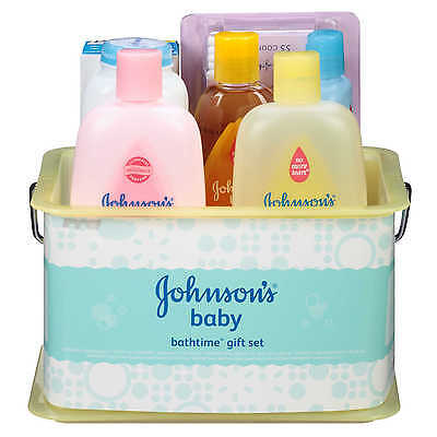 Johnson's Bathtime Gift Set For Parents-To-Be Caddy With Bath Essentials 8 It...