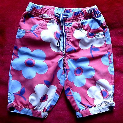 BABY GIRL 6-12 mths * MINI BODEN CROPPED PANTS * Pink Floral