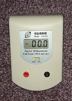 Digital Milliammeter - 3½ digit display 199.9 mA DC Desktop Ammeter BNIB