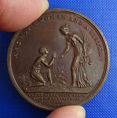 Abolition of Slavery, Bronze Medal by T.Halliday, 1834 - Very Rare