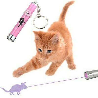 jouet pour chat pointeur laser LED rose motif souris cat toys pink mouse pointer