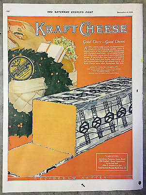 1924 Large format (10 x 14) Color Fraft Cheese Ad