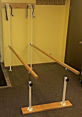 Dynatronics Wall Mounted Folding Parallel Bars for Physical Therapy