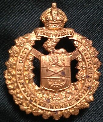 LORD STRATHCONA'S HORSE Royal Canadians WWII cap badge Canada WW2 hat