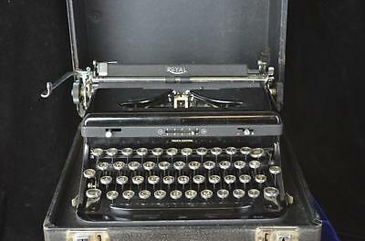 Vintage/Antique Royal Touch Control Manual Typewriter w/Glass Top Keys-WORKS!