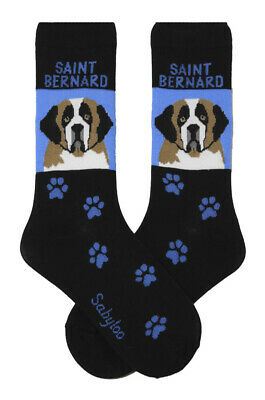 Saint Bernard Socks Lightweight Cotton Crew Stretch
