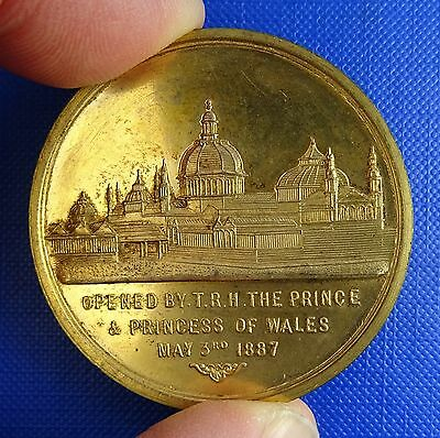 Manchester, Royal Jubilee Exhibition, 1887, Gilded Bronze Medal by Heaton - Rare