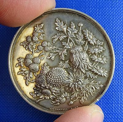 National Chrysanthemeum Society, Silver Medal by J. Restall, 1890 - Batley-Yorks