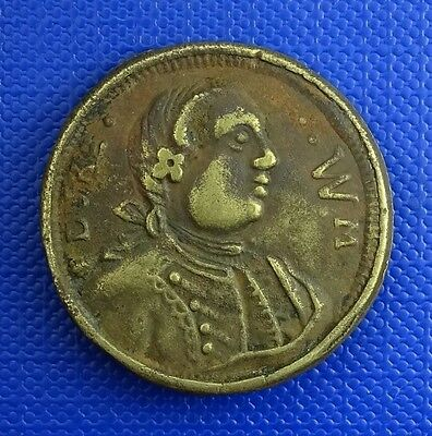 Prince William, Duke of Cumberland, Jacobite Rebellion Brass Medalet, c 1746