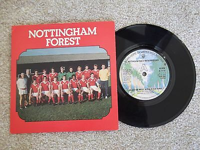 """NOTTINGHAM FOREST Whole World In Our Hands 7"""" Single PICTURE SLEEVE 1978 FA CUP"""